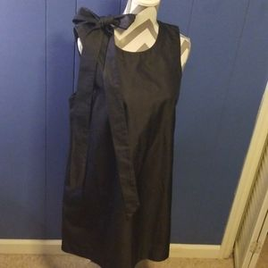 Ann Taylor Dress denim dress with bow size L
